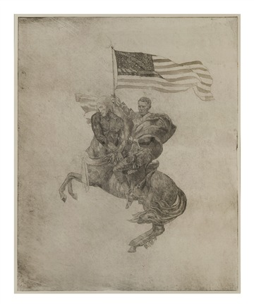 "Lincoln Centaur- was ""I Believe that All Good Things Come from God and Lioncoln Centour"" double etching"