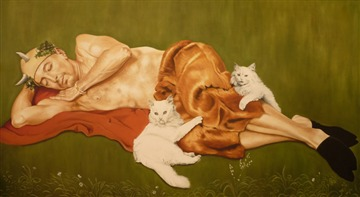 Sleeping Satyr with Cats