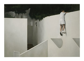 Boy on Wall