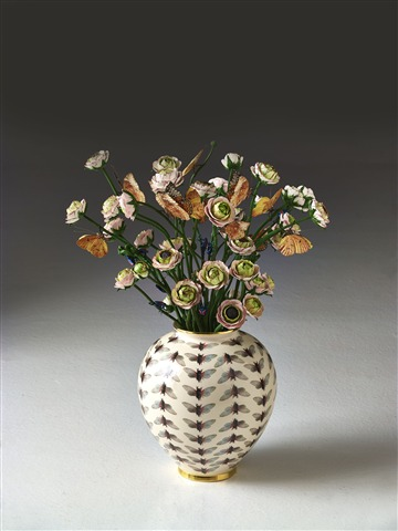 Vase with Bunch of Flowers