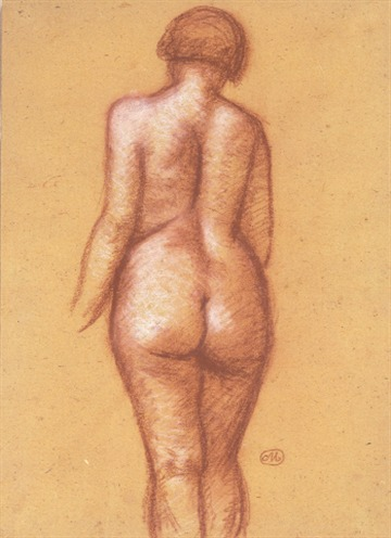 Aristide Maillol Back view of a Nude