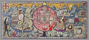 Grayson Perry Map of Truths and Beliefs 2011